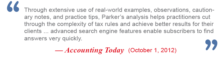 Parker Tax Library Review from Accounting Today