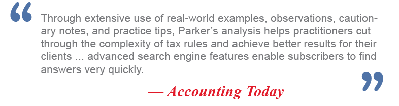 Parker Tax Pro Library - Professional Tax Research Solutions